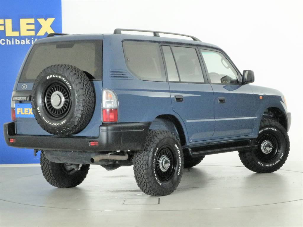 気になる方はお問い合わせ下さい☆FLEXランクル千葉北店TEL043-259-3663   トヨタ ランドクルーザープラド 2.7 TX 4WD ナロー仕様 2インチUP