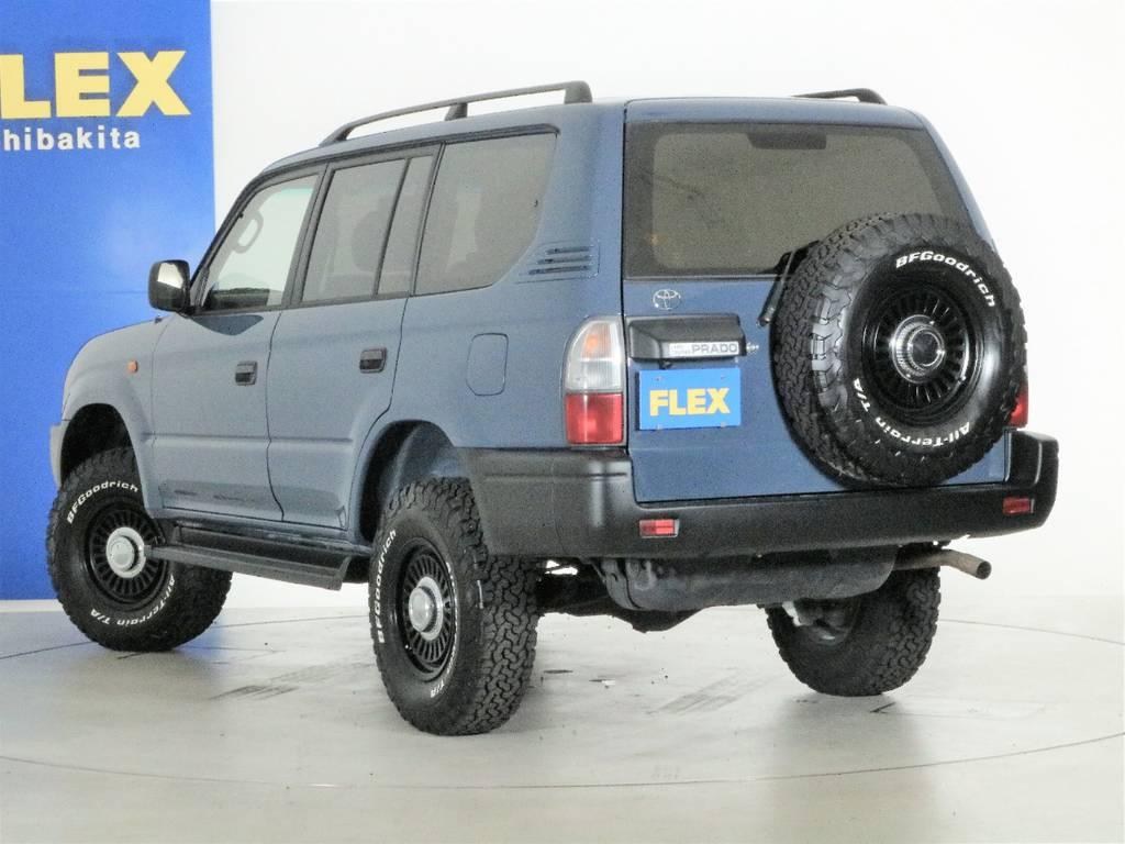 背面タイヤも新品タイヤホイールセット☆   トヨタ ランドクルーザープラド 2.7 TX 4WD ナロー仕様 2インチUP