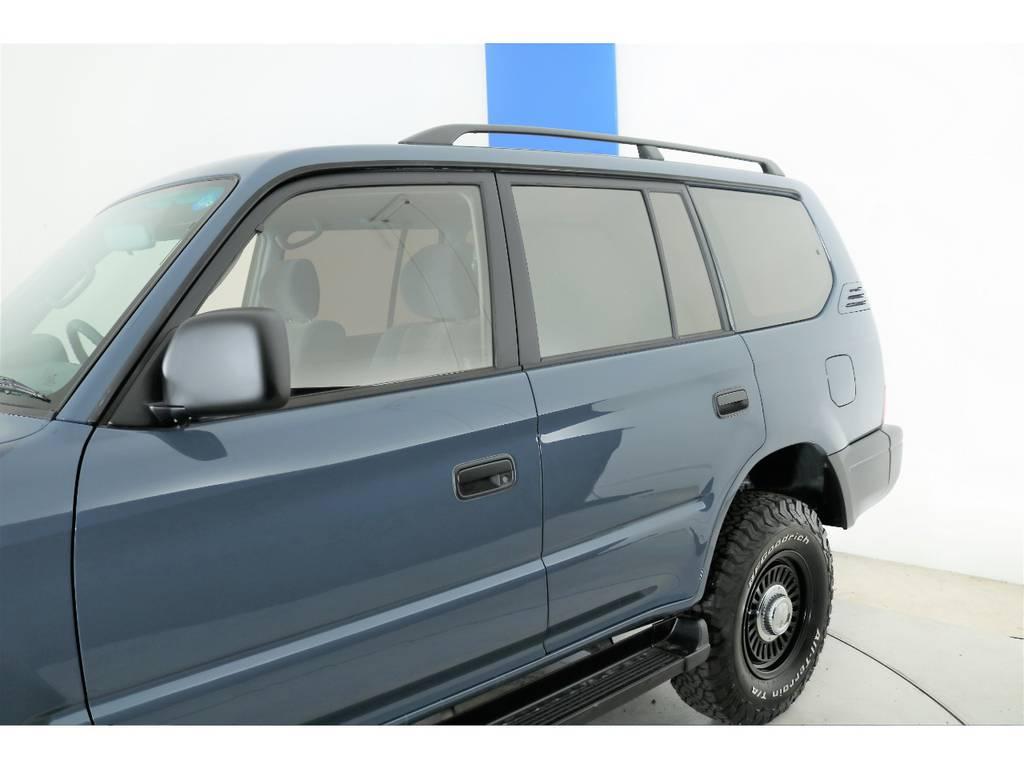 各部マッドブラック塗装☆   トヨタ ランドクルーザープラド 2.7 TX 4WD ナロー仕様 2インチUP
