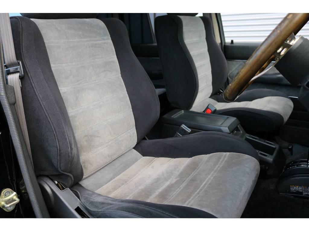 運転席シートは破れもなく綺麗に保たれております☆ | トヨタ ランドクルーザー60 4.0 VX ハイルーフ 4WD 平屋根換装 全国登録OK