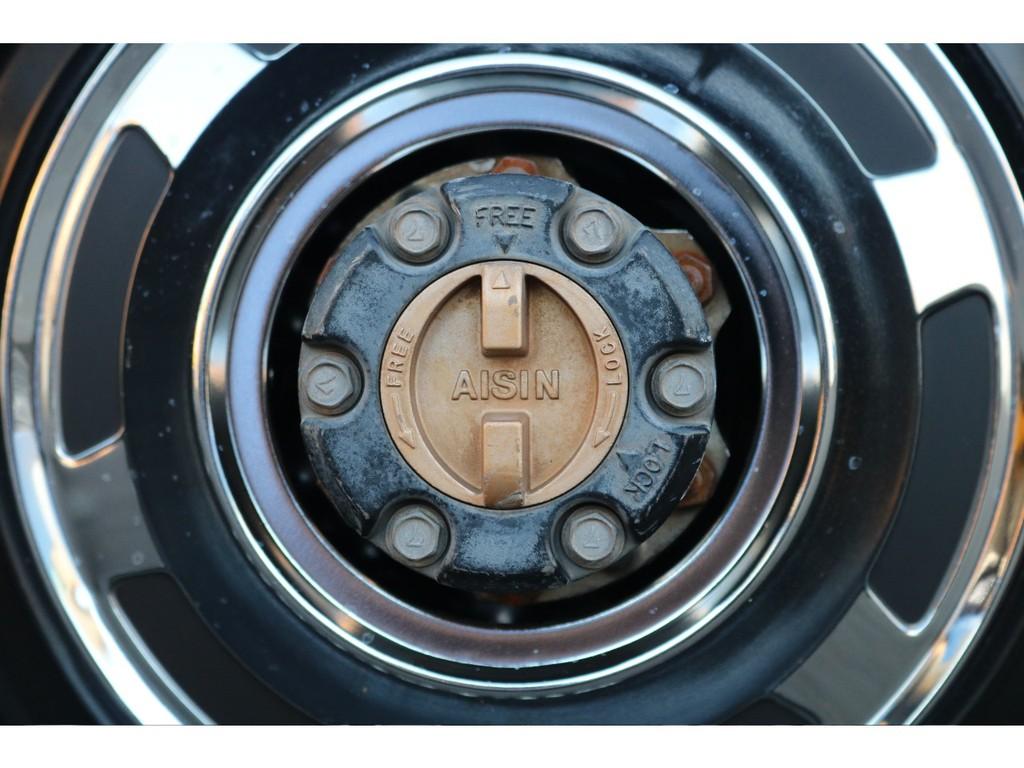 ポイント1★70系や78プラドではウィークポイントのオートハブですが、確実性の高いマニュアルハブへと換装済み!そしてAISIN製というところも安心です♪