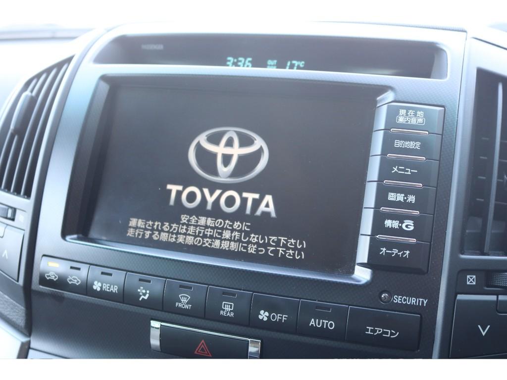 トヨタ純正HDDナビ装着!エアコンの操作も画面で出来ます☆