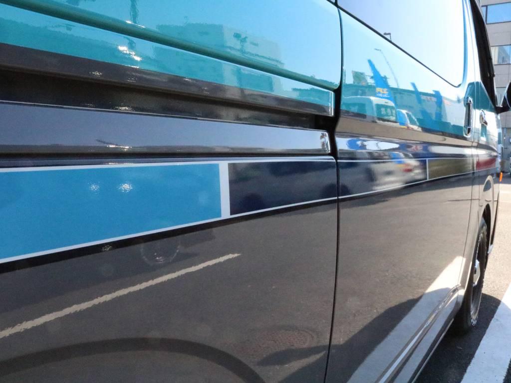 キレイな色です♪   トヨタ レジアスエース 2.7 スーパーGL ワイド ミドルルーフ ロングボディ CoastLines内装FU-Wスライ