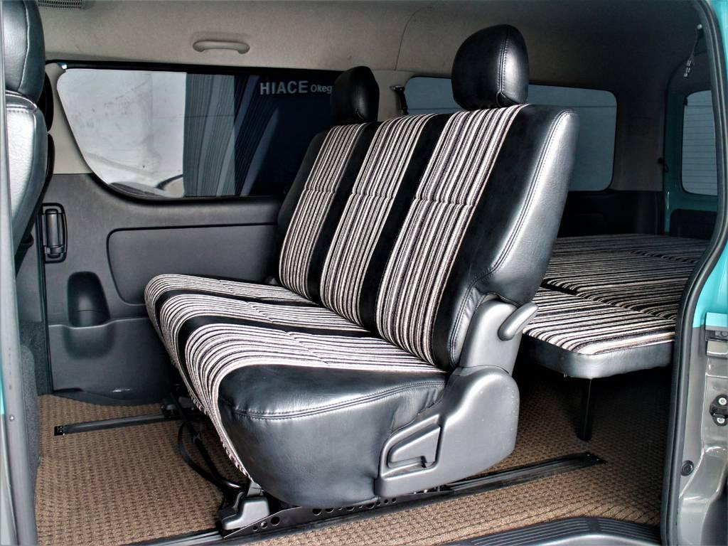 セカンドシートは3人定員です!   トヨタ レジアスエース 2.7 スーパーGL ワイド ミドルルーフ ロングボディ CoastLines内装FU-Wスライ