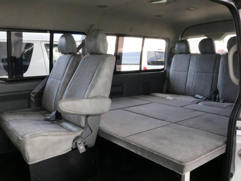 3列目シートを外し、ベットキットに変えてあります。車中泊も快適にお過ごしできます | トヨタ ハイエース 2.7 GL ロング ミドルルーフ CoastLines ベットキット付
