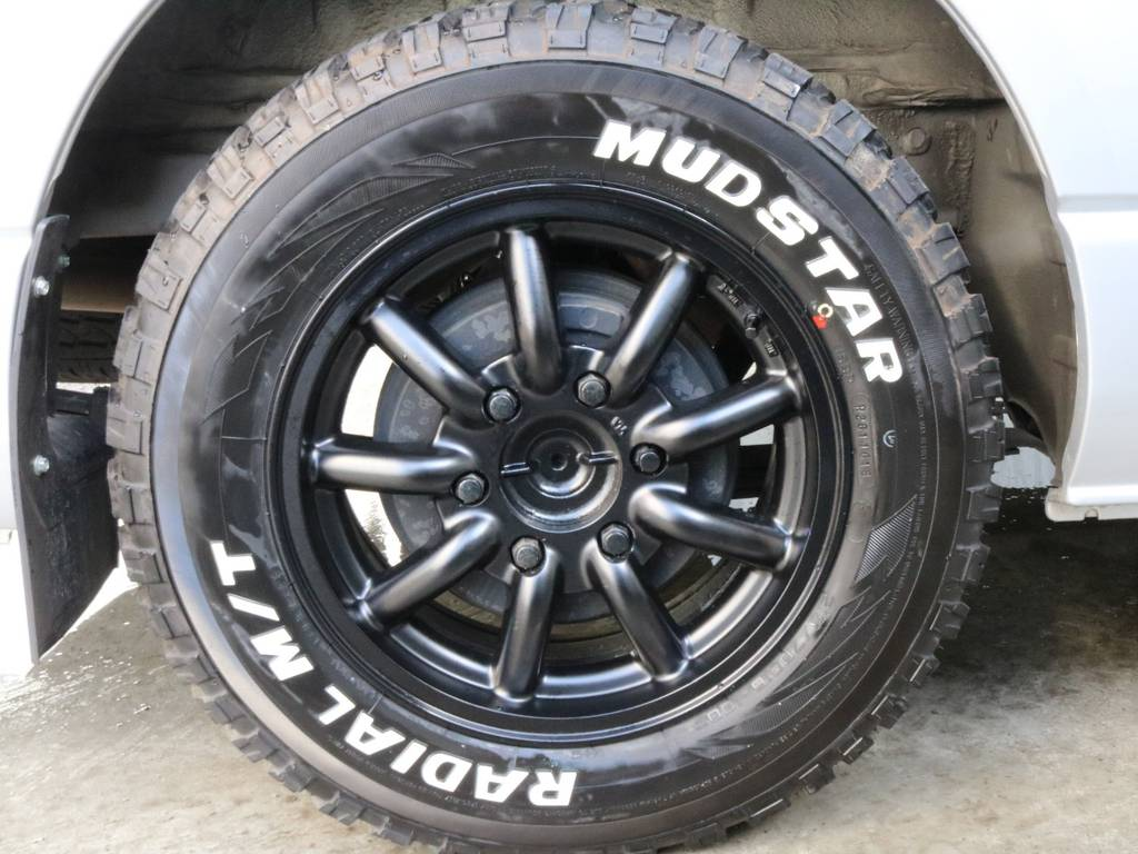 マッドスター M/T 16インチタイヤ!! | トヨタ ハイエース 2.7 GL ロング ミドルルーフ CoastLines ベットキット付