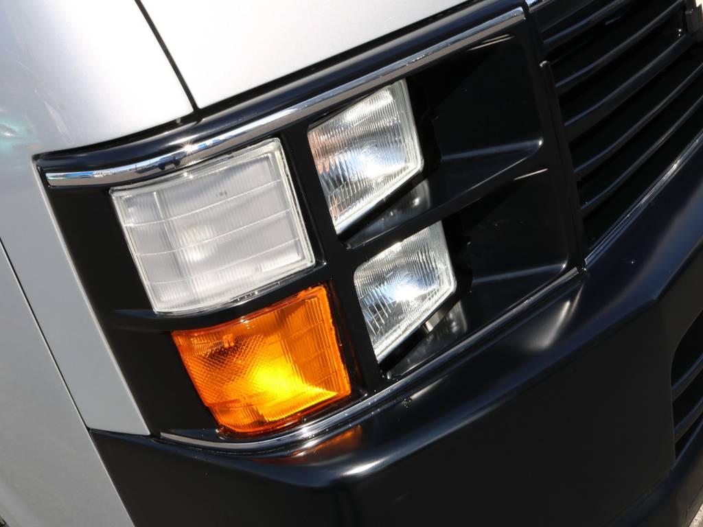 このヘッドライトがいい感じですね!! | トヨタ ハイエース 2.7 GL ロング ミドルルーフ CoastLines ベットキット付