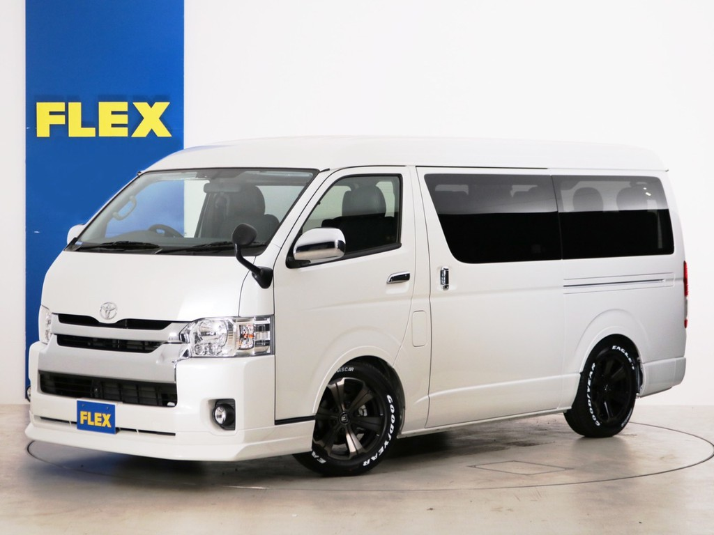 新車未登録 ハイエースワゴンGL ガソリン2WD 特別架装車【ファインテックツアラー】 床張りカスタムPKGが完成!