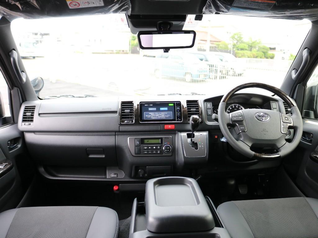 新車未登録 ハイエースV DARKPRIMEⅡ 2.8DT 2WD メーカーオプションとして新たに加わったデジタルインナーミラー・PVM・インテリジェントクリアランスソナーを装着した改良後モデルです。