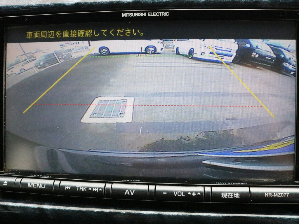 バックカメラの映像はナビモニターに映し出されます。