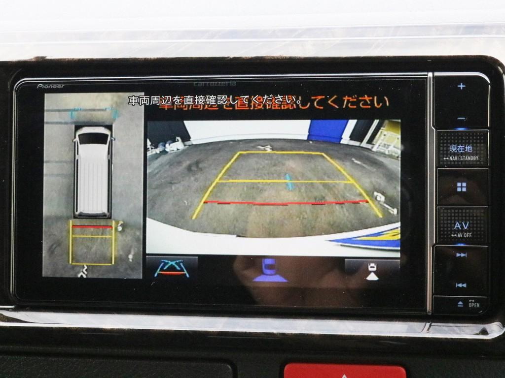 バックカメラやパノラミックビューモニターの映像はナビモニターに描写されます。