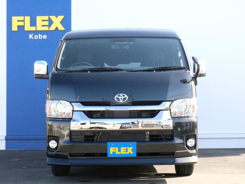 さあ、未登録新車ハイエースワイドバン ダークプライムⅡ特別仕様車ライトカスタムパッケージでお出かけしましょう! 更なるカスタムの余地もある一台! ご来店お問い合わせはお早めに! FLEX神戸店まで!