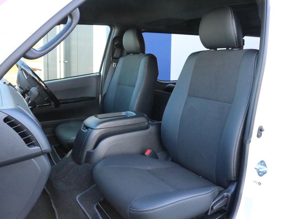 ダークプライムⅡ特別仕様車なのでシートは全席ハーフレザーシートです。そのままハーフレザーシートを楽しむのも、追加でシートカバーを装着するのも貴方次第!
