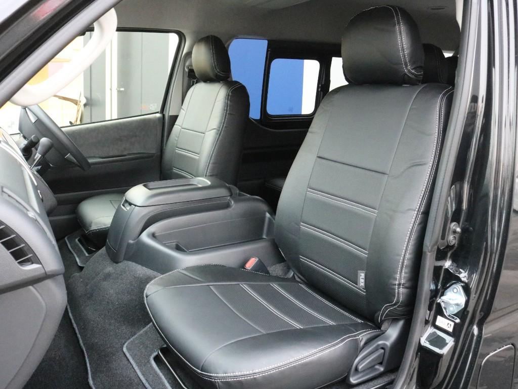 FLEXレザー調シートカバーを装着済み! 高級感を演出すると共に、純正シートの保護効果も期待できます!