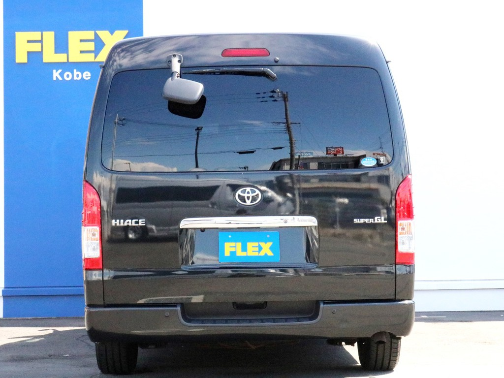 ハイエースをお探しならFLEXハイエース神戸店まで! 神戸店の展示車両は勿論、全国のFLEXが保有するハイエースの中から貴方にぴったりの一台をお探し致します。