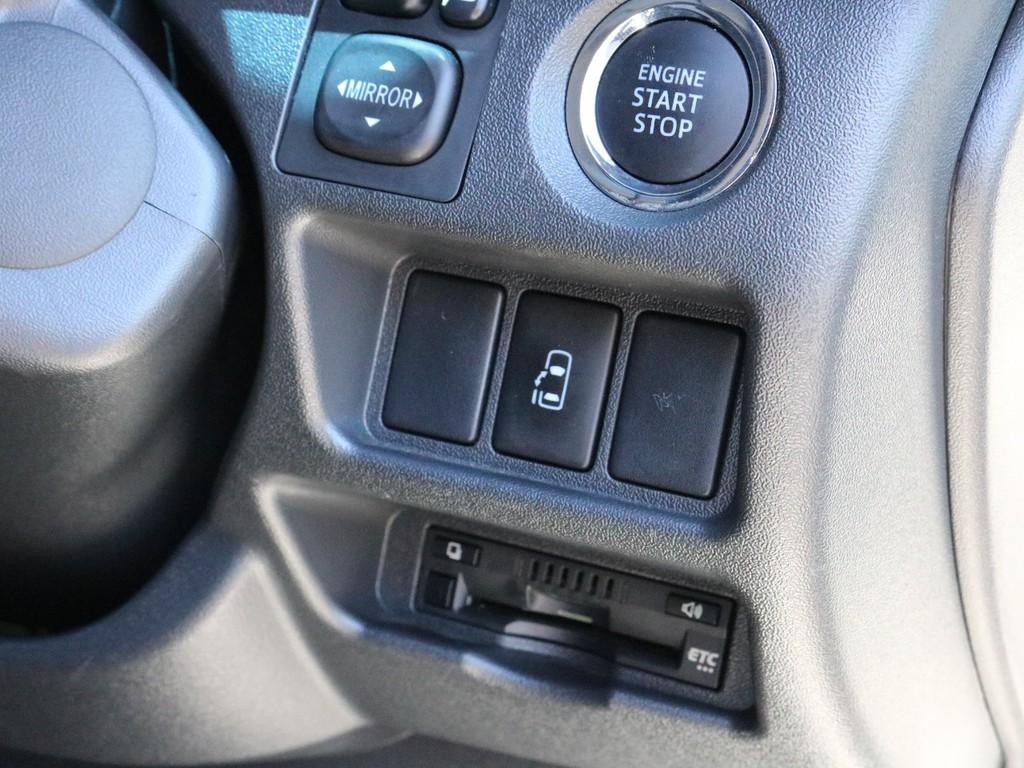 プッシュスタート&スマートエントリーを完備! パワースライドドアのリモートスイッチもこちらに設置されています。ハイウェイドライブの必需品ETCもこちらにビルトイン済みです!