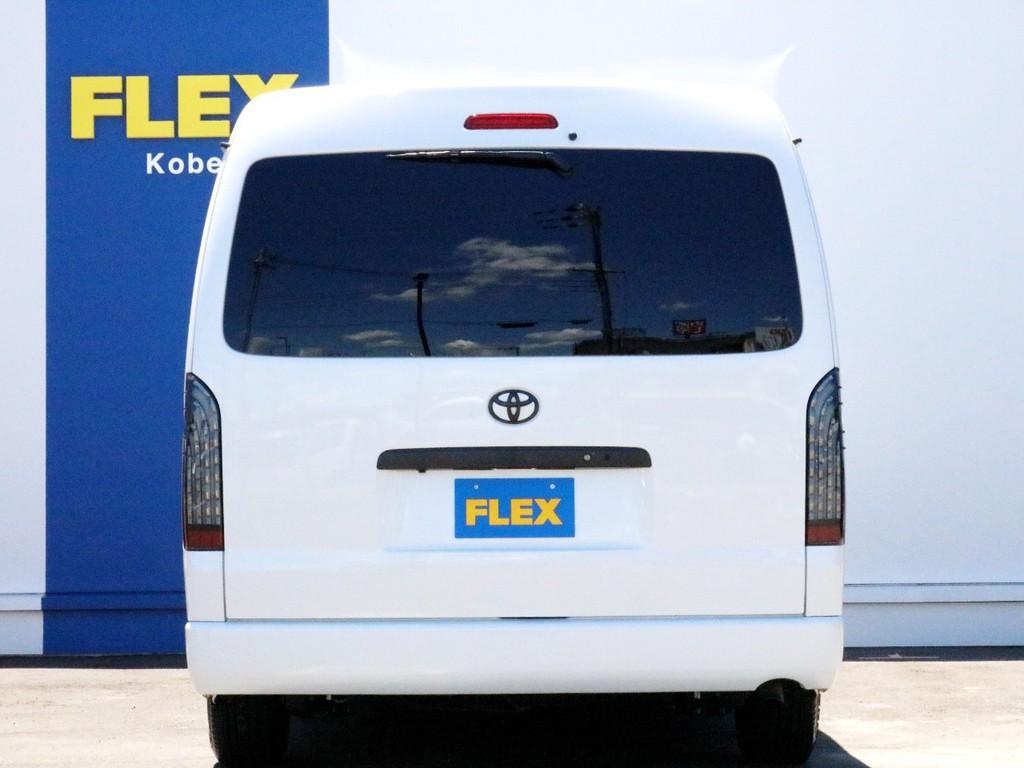ハイエースをお探しならFLEX神戸店へ! 神戸店の展示車両は勿論、全国のFLEXが保有するハイエースの中から貴方にぴったりの一台をお探し致します。