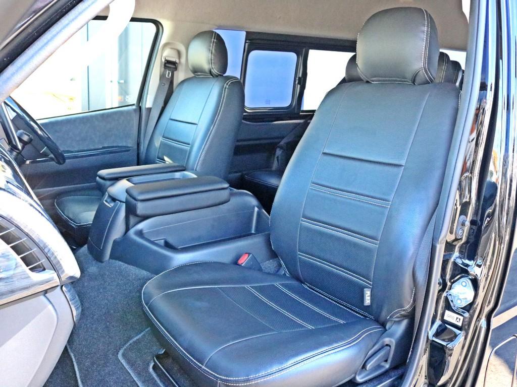 FLEXオリジナルレザー調シートカバーを装着済み! 車内の高級感を演出すると共に、純正シートの保護効果も期待出来ます。