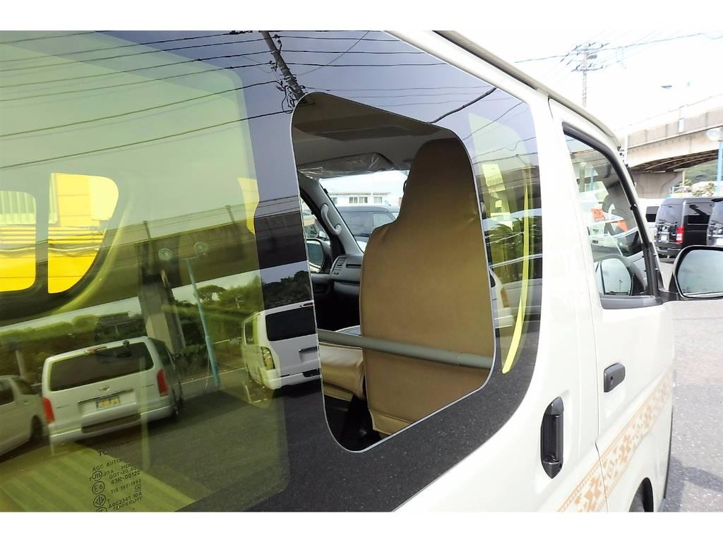 イエローフィルムを2枚貼りにしました!より一層イエロー感があります!嬉しい小窓付きです! | トヨタ ハイエースバン 2.0 DX ロング お洒落なハイエースV