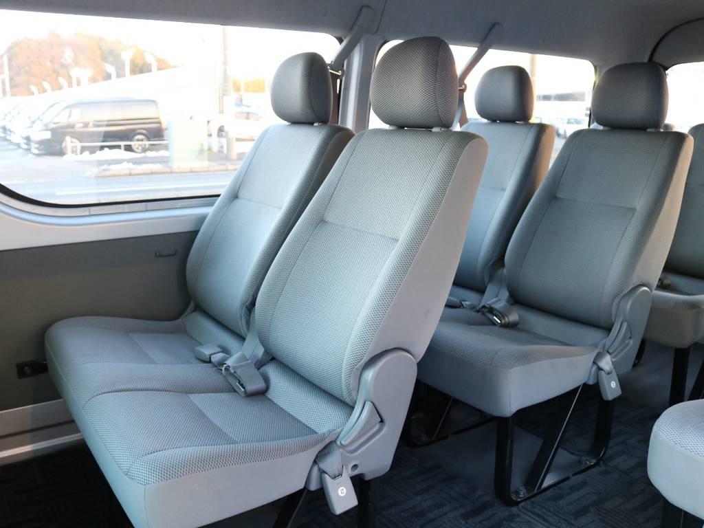 大人数で移動することが多い方必見のシートレイアウトです! | トヨタ ハイエース 2.7 DX ロング ミドルルーフ 4WD エアロツアラー