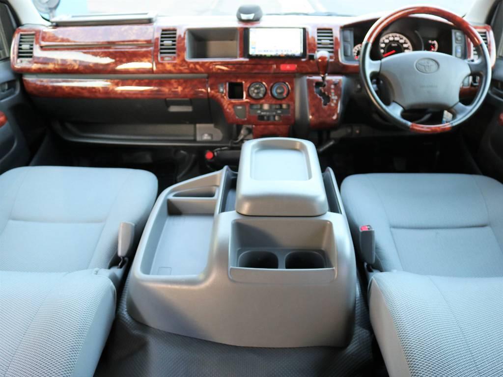 エアロツアラーは標準でダブルエアコン搭載!1年を通して快適にドライブをすることが出来ますよ♪ | トヨタ ハイエース 2.7 DX ロング ミドルルーフ 4WD エアロツアラー