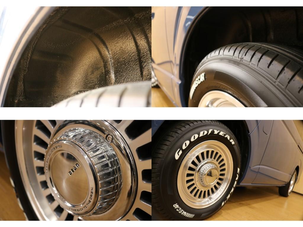 【4WDですが下廻りの程度も良好】タイヤハウス防錆チッピング塗装済・GOODYEARナスカータイヤ新品交換済。