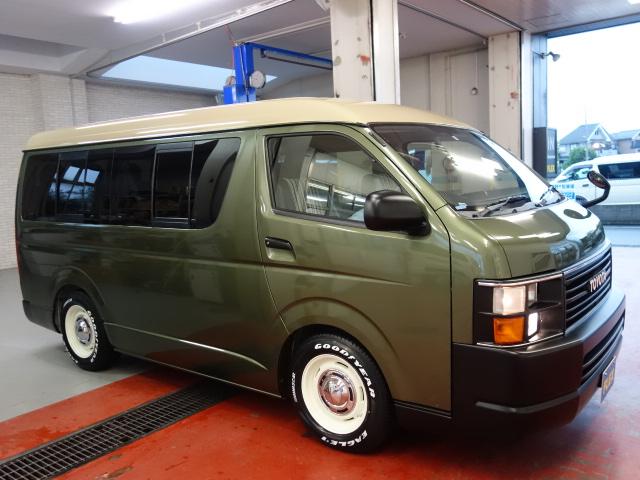 20年式ワゴンGLコーストライン完成オリーブグリーンオールペイント済み新品R1シートアレンジ施工済み!!