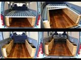 西海岸風のベッドキットとウッド製フロアパネルの組み合わせ!とてもオシャレです!