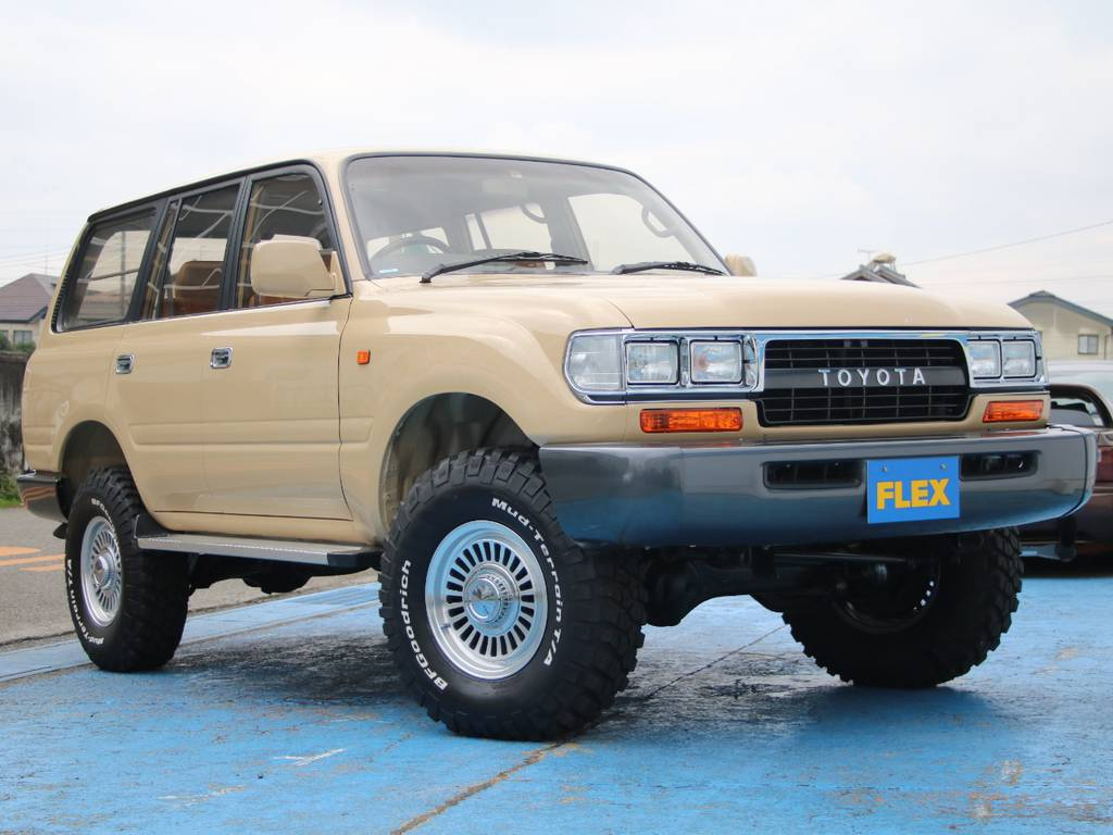 人気のスタイル角目4灯ナロー換装LC80、新入庫です☆ | トヨタ ランドクルーザー80 4.2 VXリミテッド ディーゼルターボ 4WD