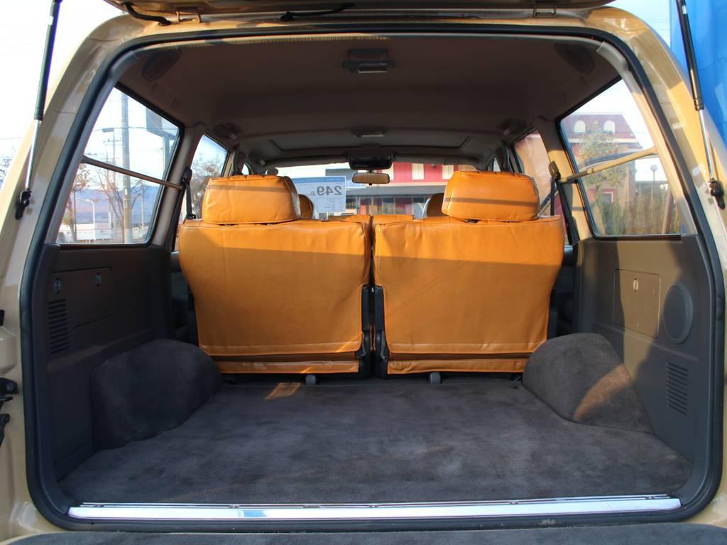 荷室は広々お使いいただけるスペースがございます☆ | トヨタ ランドクルーザー80 4.2 VXリミテッド ディーゼルターボ 4WD RENOCA 新品ナビ、Bカメラ