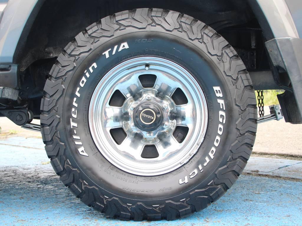 純正15インチホイール☆BFG31KO2タイヤ☆   トヨタ ランドクルーザー60 4.0 VX ハイルーフ ディーゼルターボ 4WD