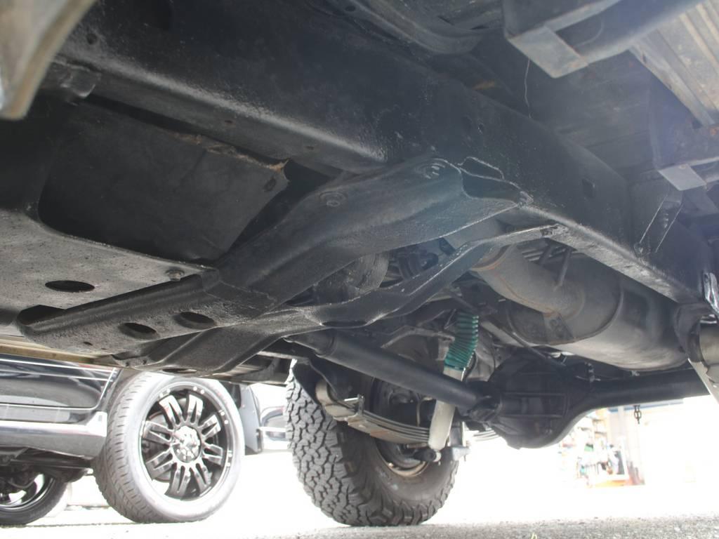 下回りは高圧洗浄後、防錆パスターにてキレイに仕上げてあります☆ | トヨタ ランドクルーザー60 4.0 VX ハイルーフ ディーゼルターボ 4WD