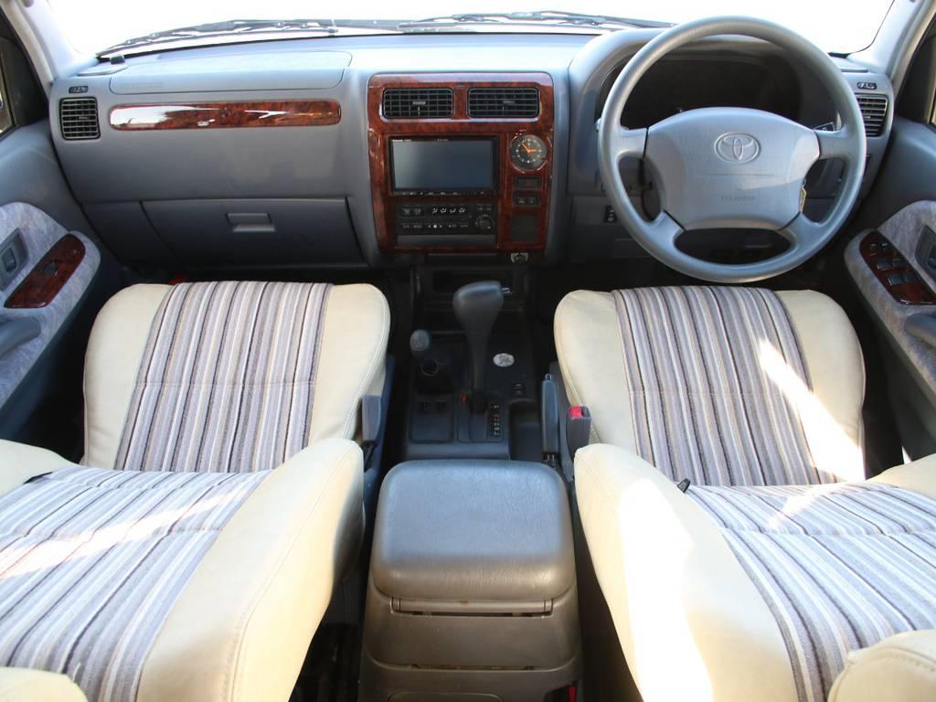 内装グレー基調☆キレイに保たれております☆新品オリジナルシートカバー☆ | トヨタ ランドクルーザープラド 2.7 TX リミテッド 4WD