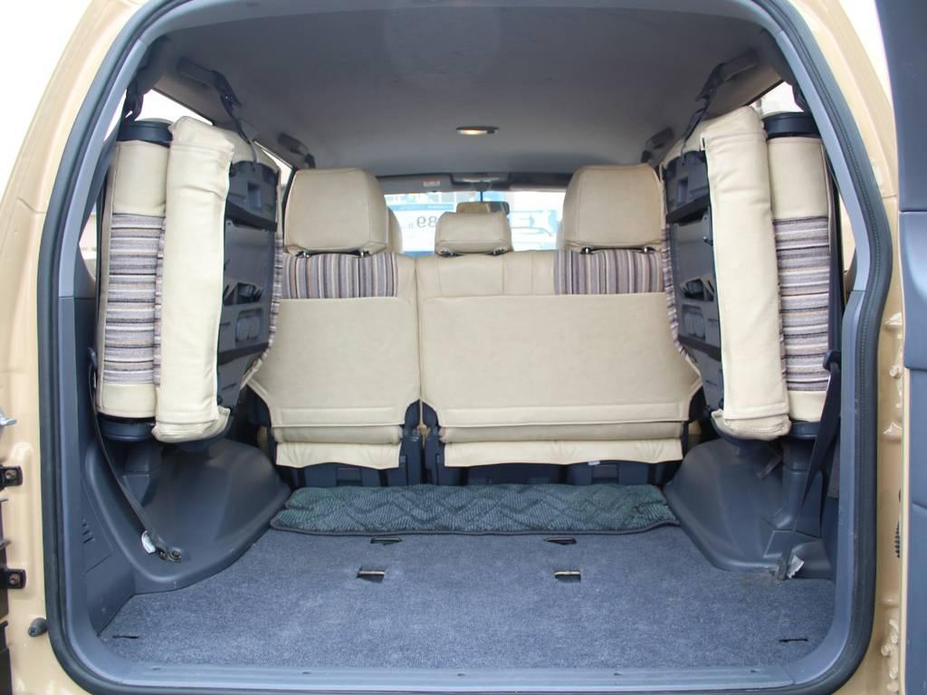 荷室は広々お使い頂けるスペースがございます☆ | トヨタ ランドクルーザープラド 2.7 TX リミテッド 4WD