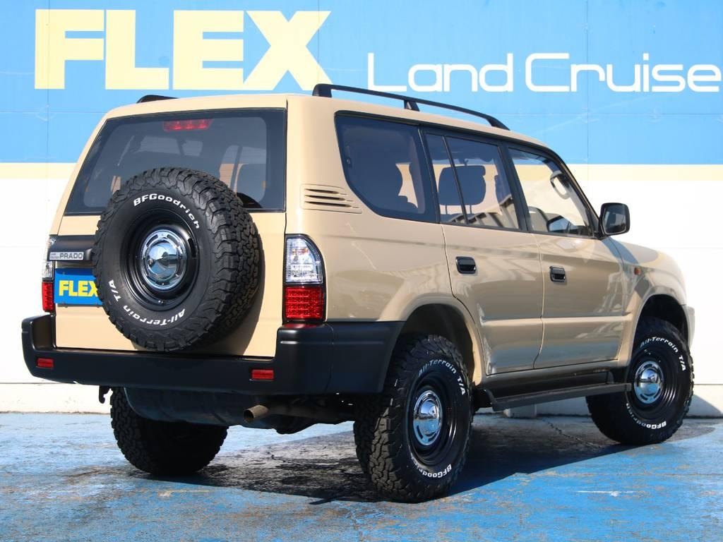 迫力のリアビュー☆背面タイヤも新品です☆ | トヨタ ランドクルーザープラド 2.7 TX リミテッド 4WD