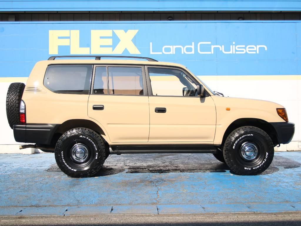 右側面もキレイに保たれております☆ | トヨタ ランドクルーザープラド 2.7 TX リミテッド 4WD