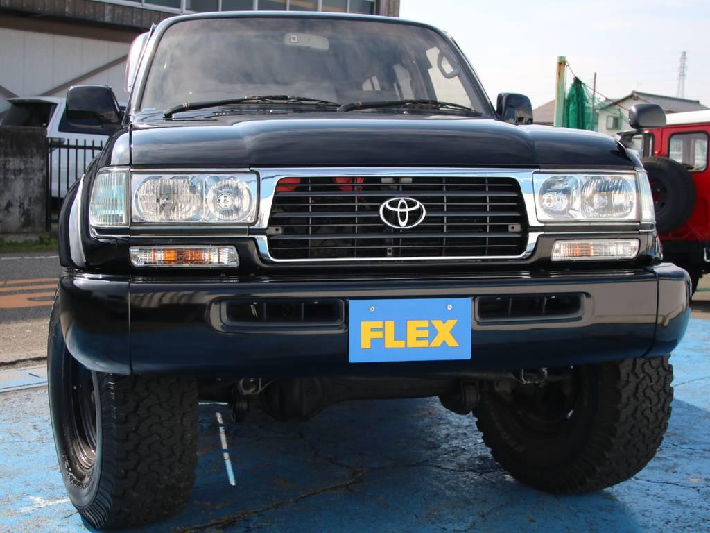 迫力のフロントフェイス☆ | トヨタ ランドクルーザー80 4.5 VXリミテッド 4WD