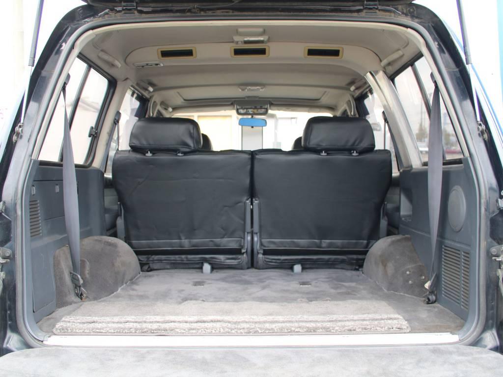 荷室は広々お使い頂けるスペースがございます☆ | トヨタ ランドクルーザー80 4.5 VXリミテッド 4WD 最終型 Wエアバック リフトアップ