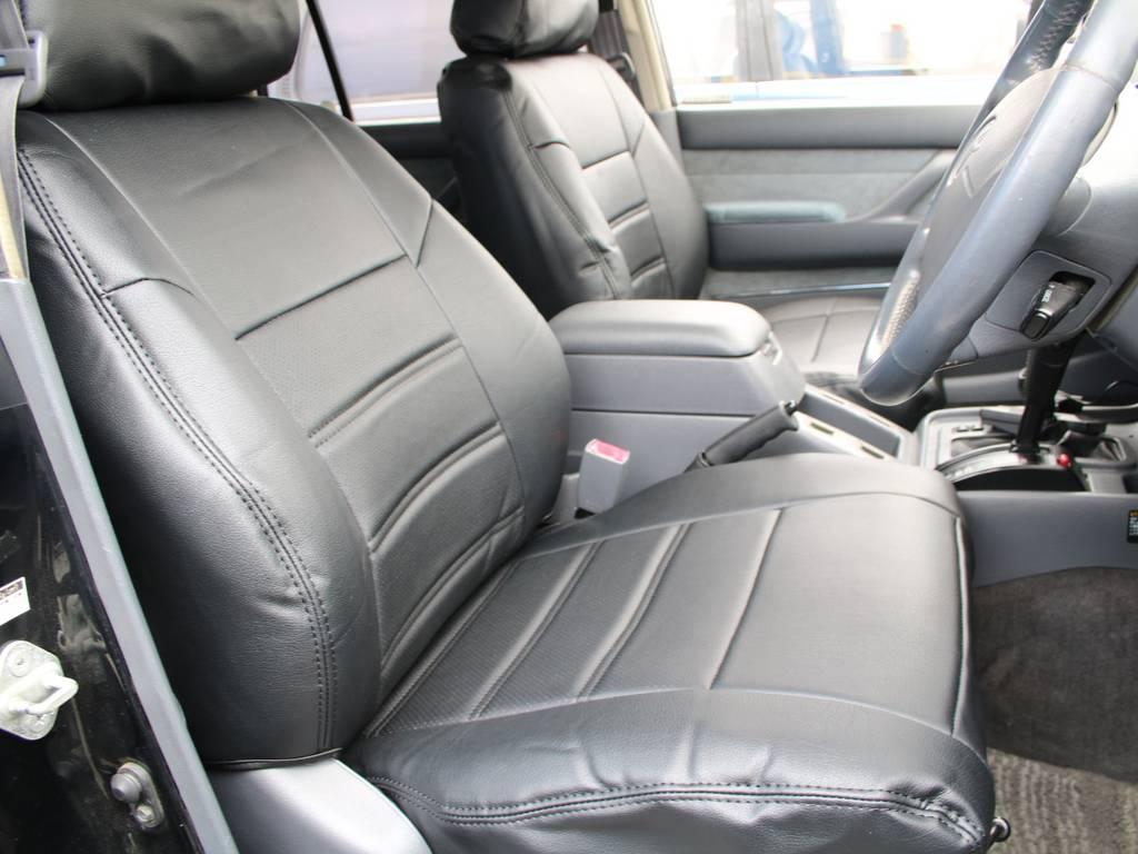 運転席は目立つヘタりなくキレイに保たれております☆ | トヨタ ランドクルーザー80 4.5 VXリミテッド 4WD 最終型 Wエアバック リフトアップ