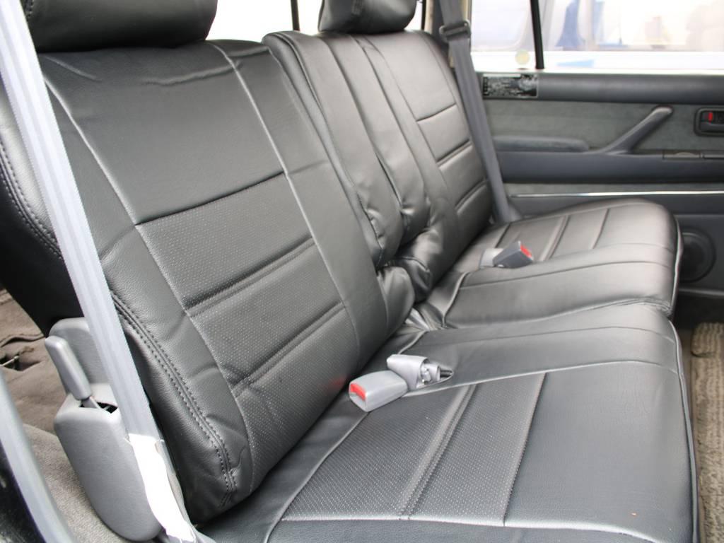 後部座席は大人もくつろげるスペースがございます☆ | トヨタ ランドクルーザー80 4.5 VXリミテッド 4WD 最終型 Wエアバック リフトアップ
