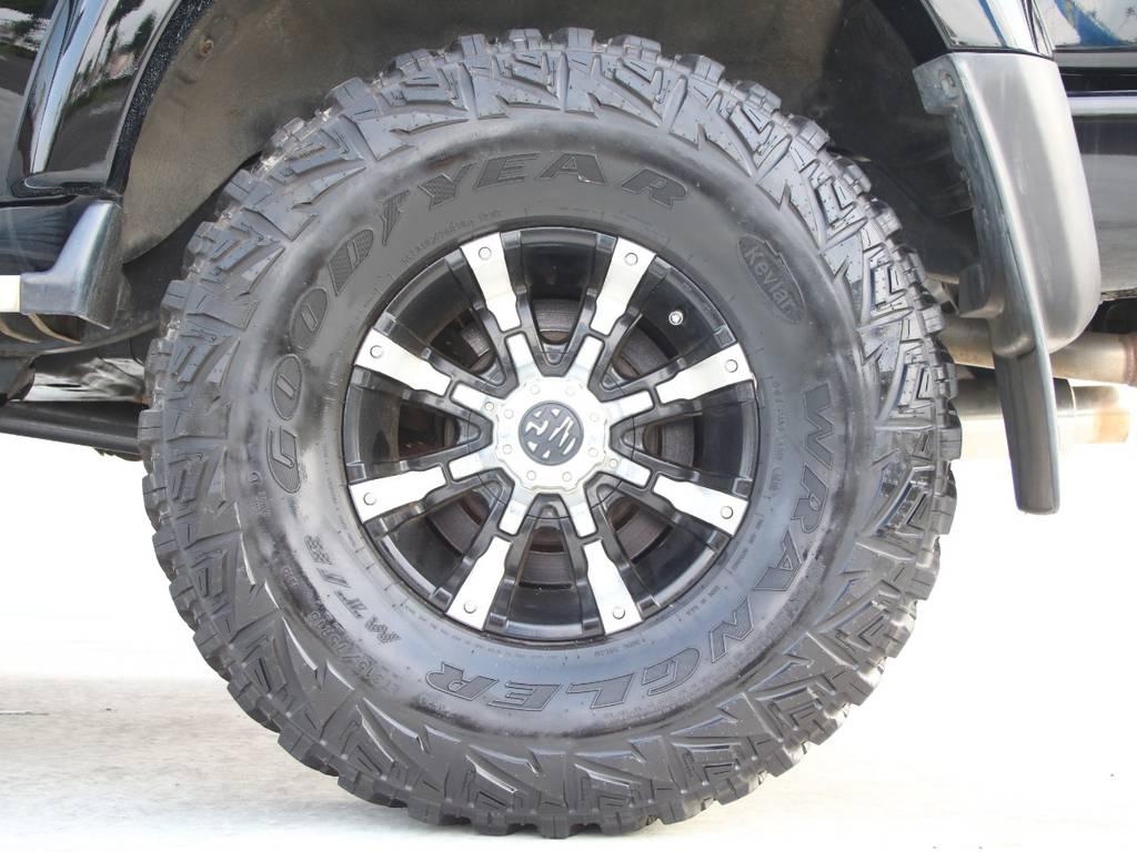 マーテルギア16インチAW☆グッドイヤー315MTタイヤ☆ | トヨタ ランドクルーザー80 4.5 VXリミテッド 4WD 最終型 Wエアバック リフトアップ