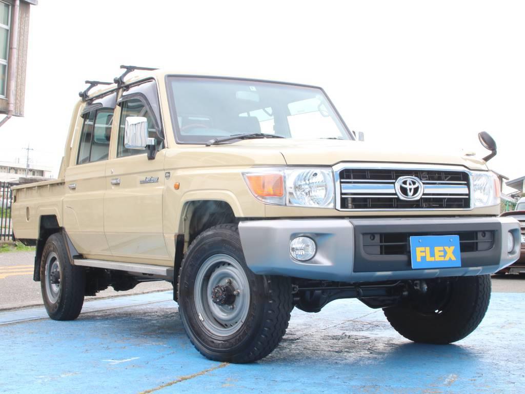 ライトカスタムのランクル79、新入庫です☆ | トヨタ ランドクルーザー70ピックアップ 4.0 4WD