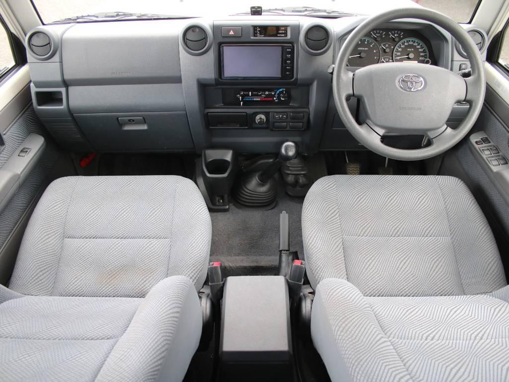内装グレー基調☆キレイに保たれております☆ | トヨタ ランドクルーザー70ピックアップ 4.0 4WD