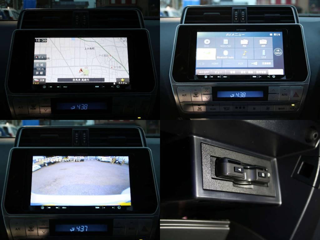 新品カロッツェリアナビ☆(フルセグ、Bluetooth対応)新品バックカメラ☆新品ETC☆   トヨタ ランドクルーザープラド 2.7 TX 4WD 5人