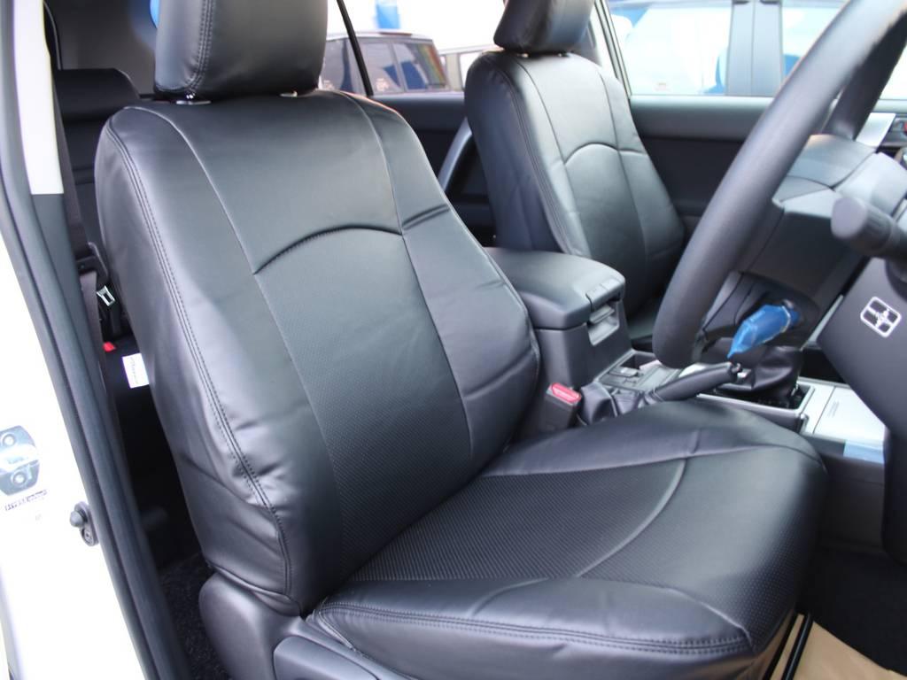 新品ブラックシートカバー☆   トヨタ ランドクルーザープラド 2.7 TX 4WD 5人
