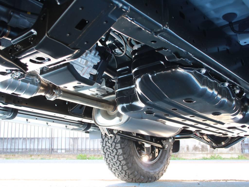 下回りは新車なのでキレイに保たれております☆   トヨタ ランドクルーザープラド 2.7 TX 4WD 5人