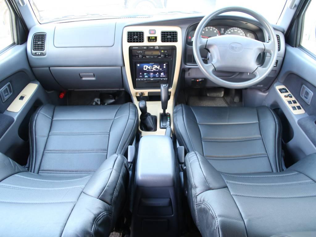 内装グレー基調☆キレイに保たれております☆新品ブラックシートカバー☆内装パネルボディ同色ペイント☆ | トヨタ ハイラックスサーフ 2.7 SSR-X 4WD US仕様