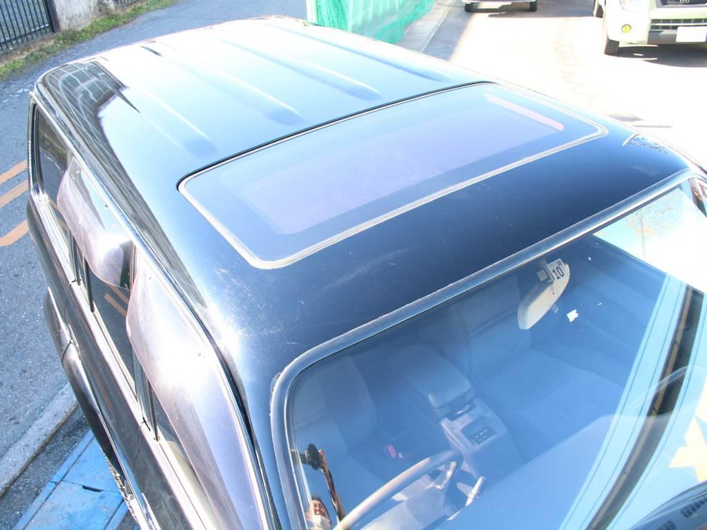 ルーフ面もキレイに保たれております☆   トヨタ ランドクルーザー80 4.2 VXリミテッド ディーゼルターボ 4WD