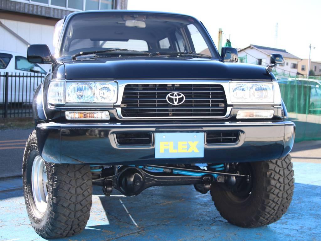 迫力のフロントフェイス☆   トヨタ ランドクルーザー80 4.2 VXリミテッド ディーゼルターボ 4WD