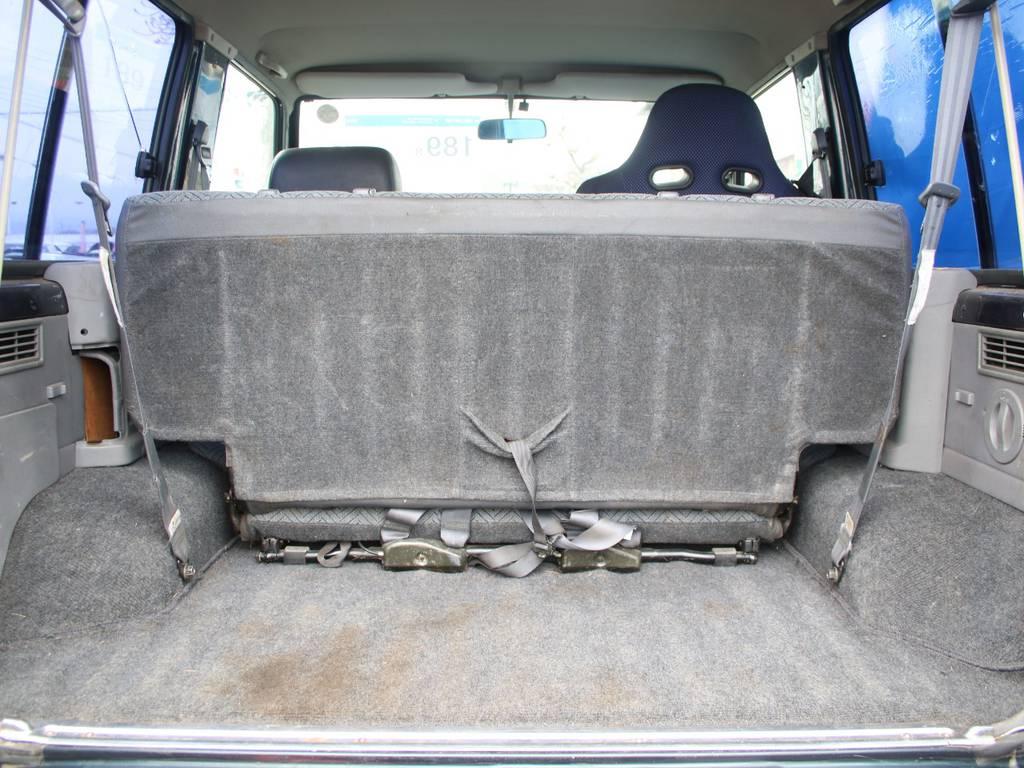 荷室は広々使えるスペースがございます☆   トヨタ ランドクルーザー70 4.2 LX ディーゼル 4WD 前後デフロック MT車 クロカンバンパー